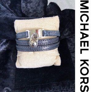 Michael Kors leather strap bracelet